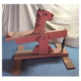 Homemade Wooden Spring Horse