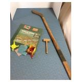 Bridge & Turnpike Building Set & Hockey Stick