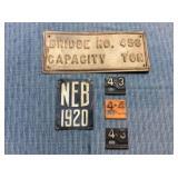 Bridge Capacity Metal Plate & NEB 1920, 1943 & 44
