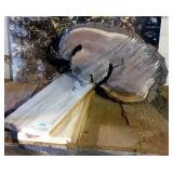 Raw Edge Chunk of Wood, Hackberry Planks