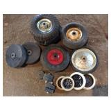 Box of Assorted Small Wheels