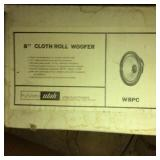 """2) 8"""" Cloth Roll Woofer Speakers in box"""
