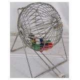 Vintage Bingo Cage & Ball Set