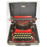 Rare Corona Special Red Typewriter with Case