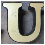 """13"""" Lighted Letter U"""