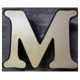 "13"" Lighted Letter M"