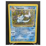 1999 Pokemon Vaporeon Jungle Rare Holo 12/64