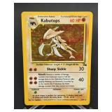 1999 Pokemon Kabutops Fossil Rare Holo 9/62