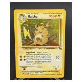 1999 Pokemon Raichu Fossil Rare Holo 14/62
