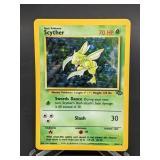 1999 Pokemon Scyther Jungle Rare Holo 10/64