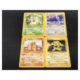(4) 1999 Rare Pokemon Cards