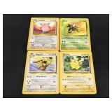(4) 1999 Jungle Pokemon Cards W/ 3 Rares