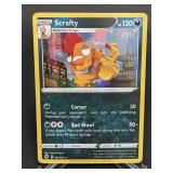 2020 Pokemon Scrafty Rare/Holo 42/73