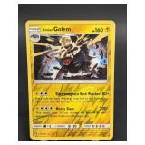2017 Pokemon Alolan Golem Rare/Rev. Holo 42/145
