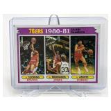 1980-81 76ers Team Leaders Erving/Jones/Cheeks #59