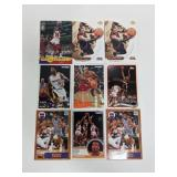 (9) Jordan & Iverson Basketball Cards