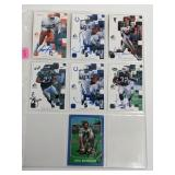 (7) Hand Signed Autograph Football Cards
