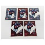 (5) 1993 Edge 1-5 F/X Drew Bledsoe Football Cards