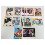 (13) Vintage Football Cards W/ Stars
