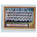 1957 Topps Kansas City Athletics Team Card