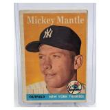 1958 Topps Mickey Mantle Card # 150