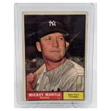 1961 Topps Mickey Mantle Card # 300 CREASE