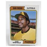 1974 Topps Dave Winfield Rookie Card # 456
