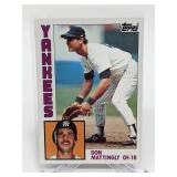 1984 Topps Don Mattingly Rookie Card # 8