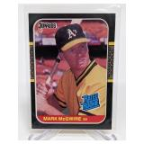 1987 Donruss Mark McGwire Rookie Card # 46
