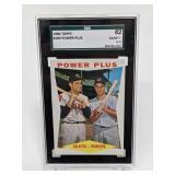 "1960 Topps ""Power Plus"" Rocky Colavito #260 SGC"