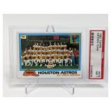 1981 Topps Astros Team #678 PSA 7