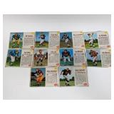 1962 Post Football 10 Different Cards
