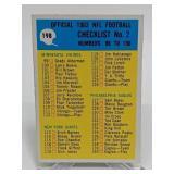 1965 Philadelphia Football Checklist # 2 unmarked