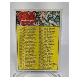 1970 Topps Football Series 2 Checklist unmarked