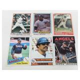 6 Reggie Jackson Cards - HOF