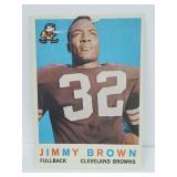 1959 Topps Football Jim Brown 2nd Year wPaper Loss