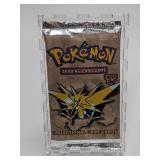 1999 Pokemon Fossil Set Booster Pack - Zapdos Artw