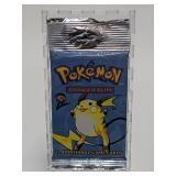2000 Pokemon Base Set 2 Booster Pack - Raichu Artw