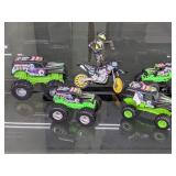 (5) Grave Digger/Motocross Toys
