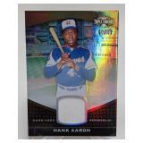 10/27 2011 Topps Triple Threads Hank Aaron Relic