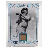 39/50 2017 Leaf Immortal Babe Ruth Relic #YS-43