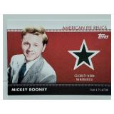 2011 Topps Amer Pie Relics Mickey Rooney Relic