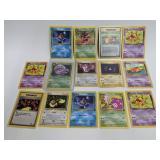 2000 Pokemon Team Rocket Set Non-Holo 14 Card Lot
