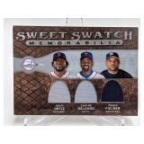 2009 Sweet Swatch Ortiz/Delgado/Fielder #TS-ODFF