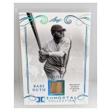 27/50 2017 Leaf Immortal Coll. Babe Ruth Relic