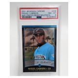 2001 Bowman Chrome Miguel Cabrera #259 PSA 8 RC