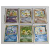 (6) Pokemon Pocket Monsters Cards W. Holo