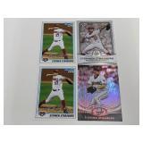 (4) Stephen Strasburg RC Baseball Rookie Cards