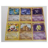 (6) 1999-2000 Rare Pokemon Cards