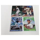 (4) Ozzie Albies RC Baseball Rookie Cards
